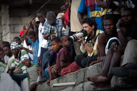 Emily Troutman in Haiti. (Credit: Allison Shelley)