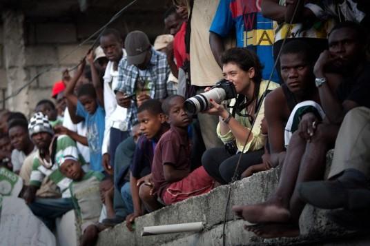 Emily Troutman in Haiti. (Credit: Allison Shelley)