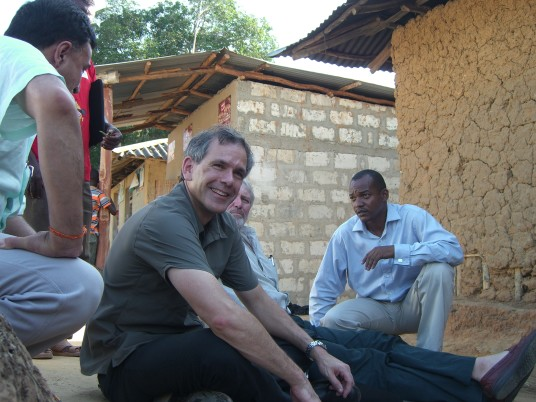 Christopher Murray in Tanzania. (Credit: University of Washington)