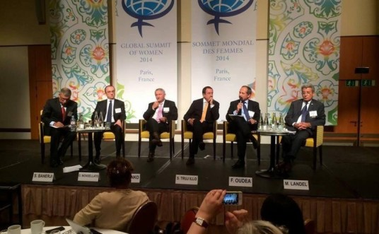 Barder displays this photo on his website to illustrate his stance against all-male panels.